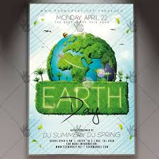 Earth Day Event Flyer Psd Template
