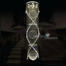 spiral crystal chandelier long spiral crystal chandelier ceiling light fixture for staircase round re stairs foyer