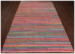 rugsville multi chindi stripe dhurrie rug 21178