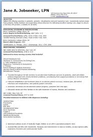 Sample Resume Objectives Sample LPN Resume Objective Creative Resume Design Templates 47