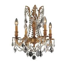 worldwide lighting windsor collection 4 light french gold chandelier with clear crystal