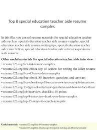 Special Education Teacher Resume Sample Yuriewalter Me