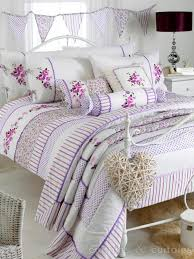 pandora purple luxury fl vintage cotton blend duvet cover bedding uk