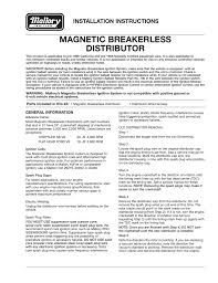 malloy ignition systems installation instructions