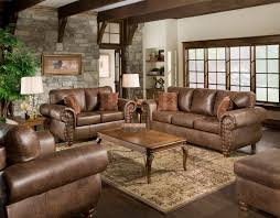 full size of living room brown leather sofa with cushions and wooden base plus rectangular table
