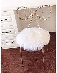 lochas super soft round seat cushion faux fur sheepskin chair cover pad plush for living