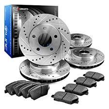 rotors. eline drilled slotted brake rotors + ceramic pads kit bmw 323,325,328, (e30,e36