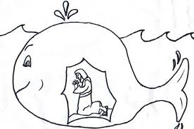 Jonah And The Big Fish Coloring Page Many Interesting Cliparts