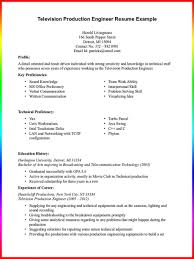 Television Production Engineer Resume Resume Examples Sample Manufacturing Engineer Resume Television 19