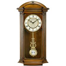 pendulum wall clock with triple chime bulova hartwick c4331 clocks com
