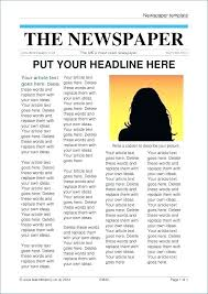 Powerpoint Newspaper Clipping Template Newspaper Template Free Editable Old Poster News Paper