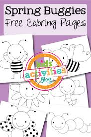 We've custom drawn all of these and they include lots of your favorite spring things like rainbows, flowers, birds, bunnies and more! Free Coloring Pages Spring Buggies