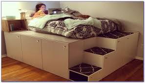 Full Size of Bedroom:ikea Platform Hack Half Loft Hackers Bookshelf Full  Size Frame With ...
