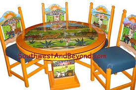 mexican painted furnitureHand Painted Mexican Table Sets
