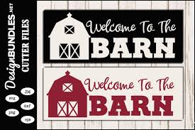 All contents are released under creative commons cc0. Welcome To The Barn Svg
