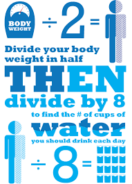 Image result for A person should consume 2½ quarts of water per day