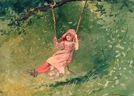 water color painting a swing by winslow homer