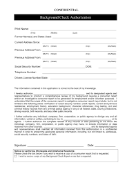 Background Check Authorization Form 24 Background Check Form Examples PDF 5