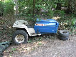 several years ago my dad gave me an spare garden tractor from his collection of misfit toys