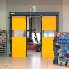 Horizontal roll-up doors / indoor / industrial / high-speed ...