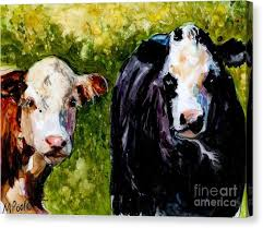 two cows canvas print two cows by molly poole on two cows canvas wall art with two cows canvas prints page 2 of 17 fine art america
