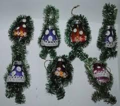Details Zu Alter Christbaumschmuck Aus Glas Sieben Glocken Mit Tinsel