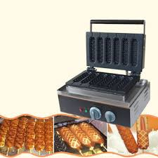 Corn Vending Machine Custom China French Corn Hot Dog Waffle Stick Maker Electric Hot Snack