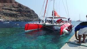 Dream Catcher Boat Santorini Cruising to Europe on the Dawn Princess 100 Sailing in Santorini 65