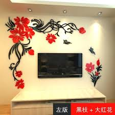 crystal three dimensional wall stickers living room wall acrylic sofa background flower vine wall stickers for chevron wall stickers