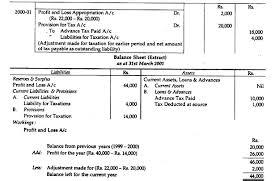 income tax payable balance sheet preparing final accounts 7 main adjustments
