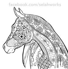 Small Picture horse coloring pages for adults Just Colorings