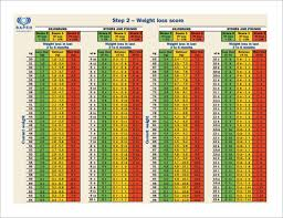 bmi weight loss chart free pdf template