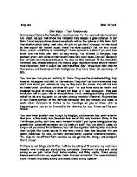 old major text response gcse english marked by teachers com page 1 zoom in
