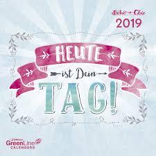 Sheepworld Boho 2019 Greenline Mini Broschürenkalender Kreative