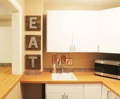 diy eat letters in kitchen