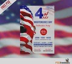 Gallery Of Fourth July Flyer Template Free Usa Independence Day Psd