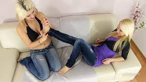 Lesbian Foot Worship Couch