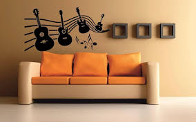Small Picture meSleep Music Of Guitar Design Black Wall Sticker Amazonin Home