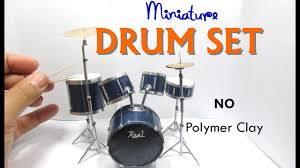 paper dollhouse miniature drum set diy