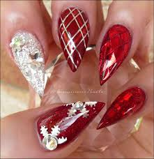 Red And Gold Christmas Nails   temasistemi.net