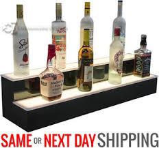 Bar Bottle Display Stand 100 100 Step Tier LED Lighted Shelves Illuminated Liquor Bottle Bar 12