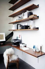 home office shelving. 75 Small Home Office Ideas For Men Masculine Interior Designs Attractive Wall Shelves Within 19 Shelving I