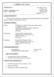 Curriculum Vitae Format Delectable Curriculum Vitae Pdf Vuoto Free Download Sample Template Excellent