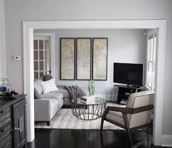 Modern Light Gray Living Room Small Home Tour Grey Walls Living Room Small Living Rooms