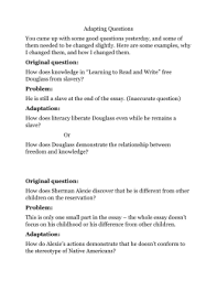 narrative of the life of frederick douglass chapter worksheet pdf frederick douglass think questions adapting questions