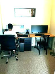 home office with two desks. Two Person Office Desk Multi Desks  . Home With