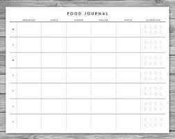 Food Journal Printable Etsy