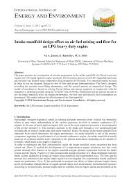 PDF) Intake manifold design effect on air fuel mixing and flow for ...