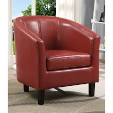 faux leather tub chair in red