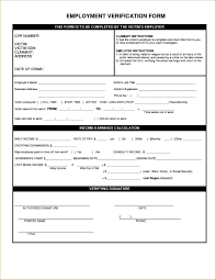 Generic Employment Verification Form Form Template Employment Verification Form Employment Verification 1